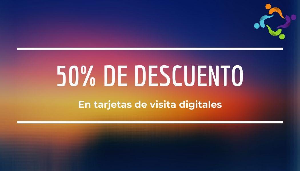 50% de descuento en tarjetas de visita digitales